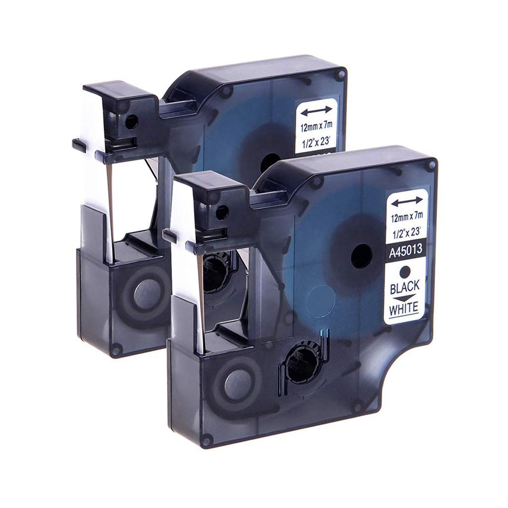 45013 Compatible For Dymo D1 Label Tape Cassette Black On White Cartridge 12mm