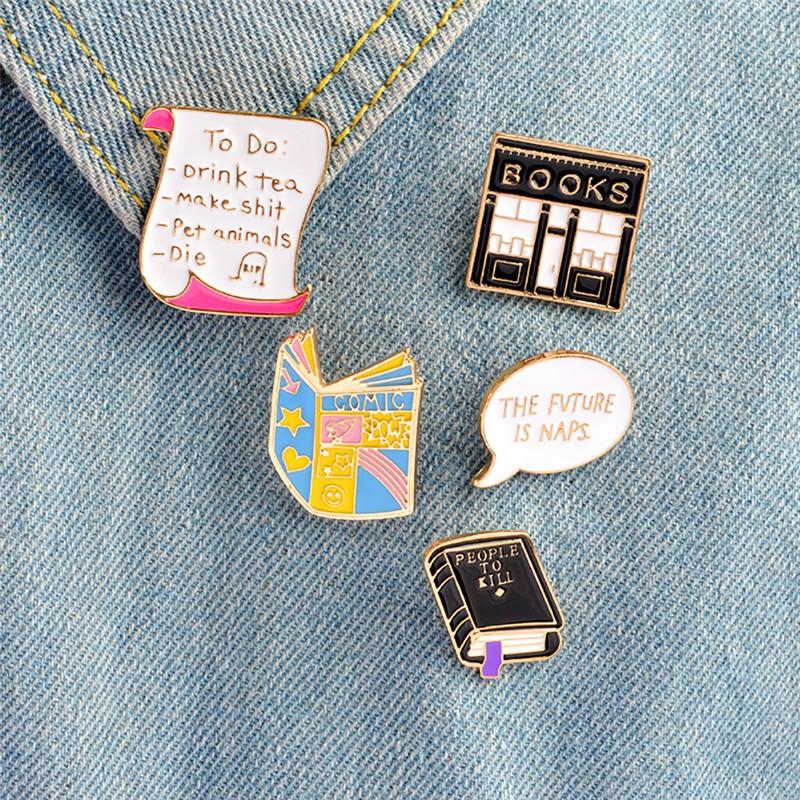 4pcs Cute Cat Face Collar Pins Badge Corsage Cartoon Brooch Jewelery