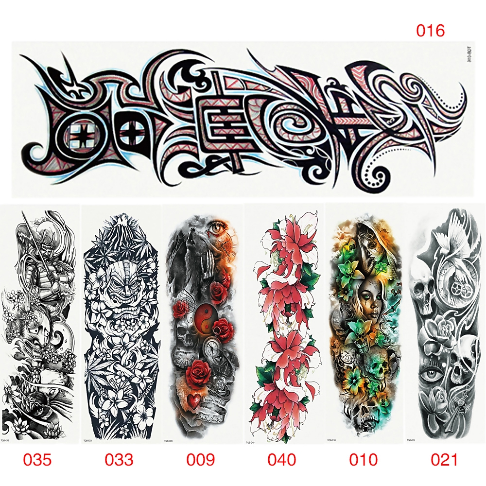 Waterproof Flower Arm Tattoo Stickers Water Transfer Body Art Tattoos Shopee Singapore