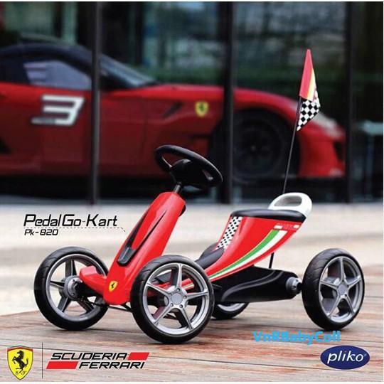 Pliko Pk 820 Scuderia Ferrari Pedal Go Kart Kids Toy Shopee Singapore
