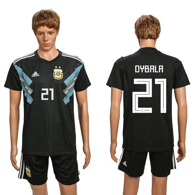 pick up 3ddb4 a6cdb TH***[Kickshop] Adidas World cup 2018 Argentina Jersey black men shirt #10  MESSI