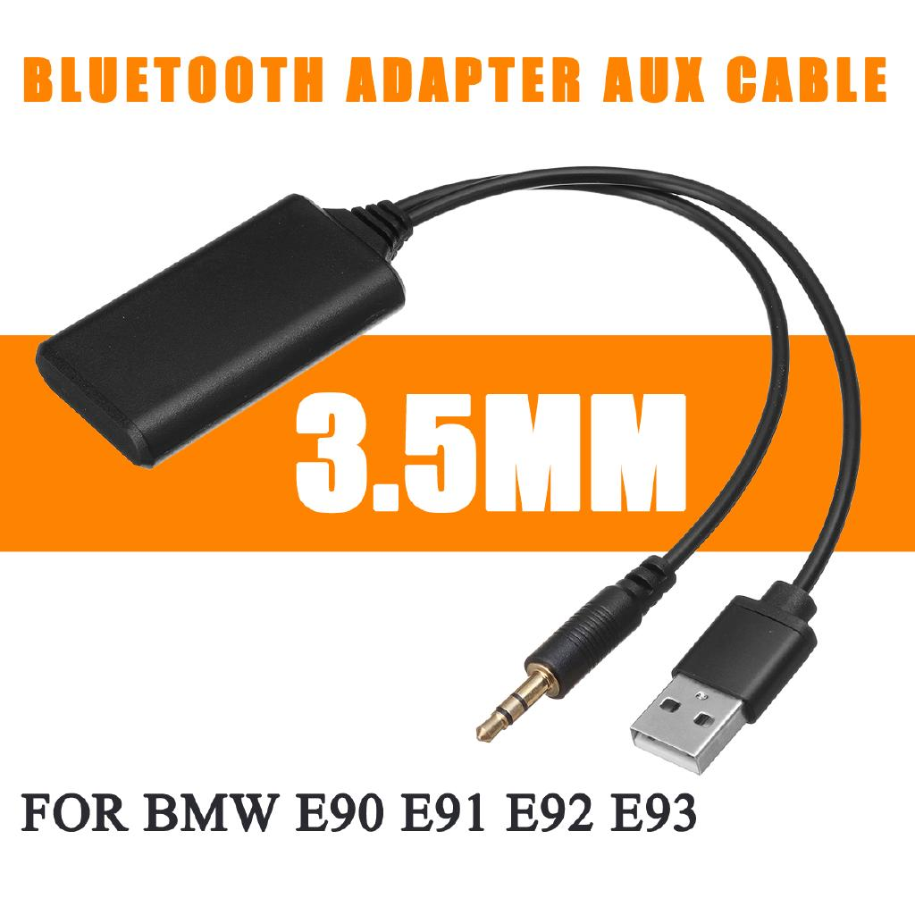 3 5mm 12V Car Radio bluetooth Audio Adapter Aux Cable For