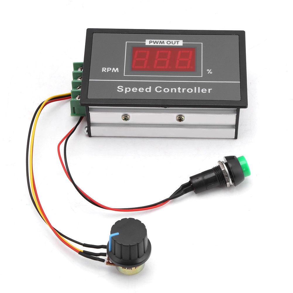 1x DC 6-60V 12V 24V 36V 48V 30A PWM Motor Controller Start Stop Switch 15KHz