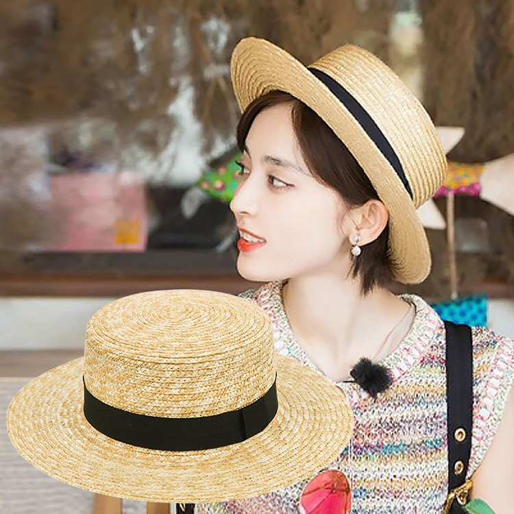 2fb542d9995db2 ProductImage. ProductImage. Women Summer Beach Sunscreen Straw Hat Tide  Folding Wide Brim ...