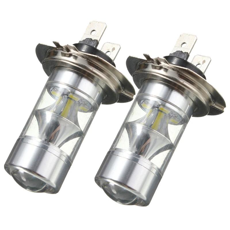 2x H7 60W 6000K Super White Samsung 2323 LED Fog Lights 12-SMD Driving Bulb 12V