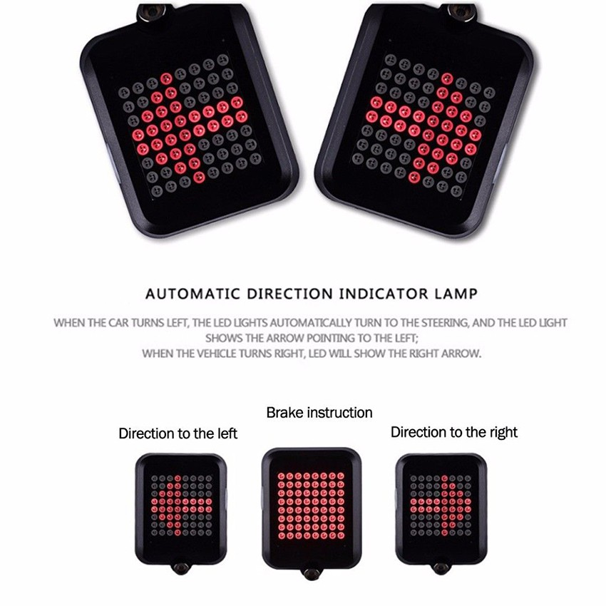 USB Rechargeable Bike Bicycle Cycling COB LED Clip Rear Tail Light Warning Lamp