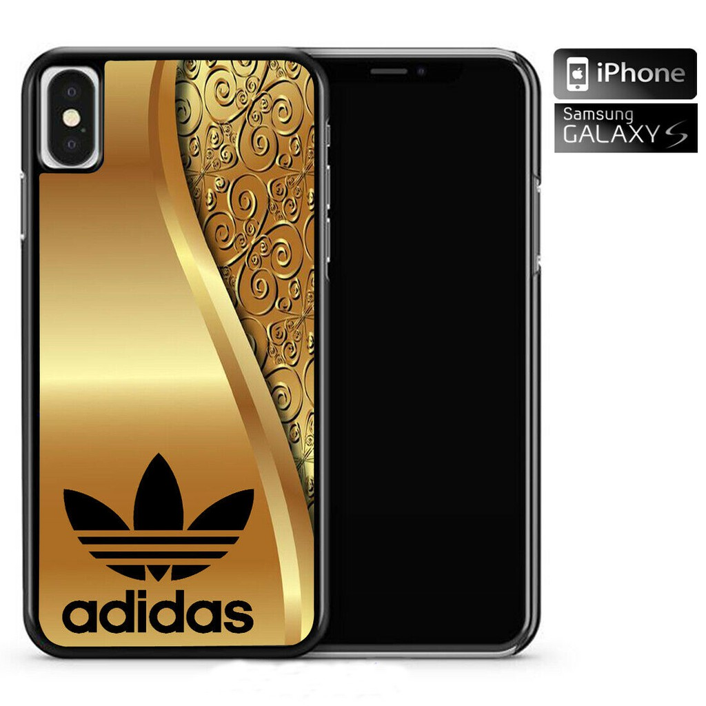 New Gold Adidas Black Cover Case Iphone 6 6s 7 8 Plus X Xs Max Xr