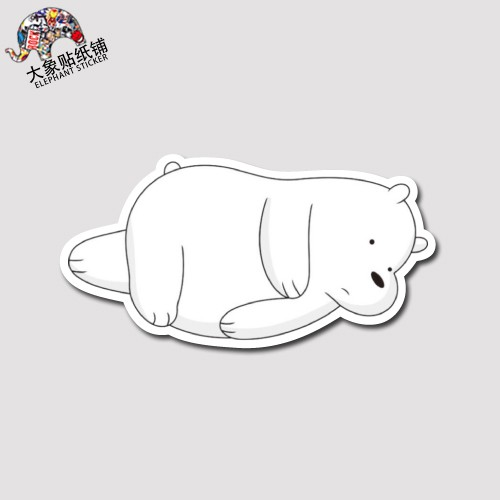 We Naked Bear We Bare Bears Sticker Suitcase Sticker Grizzly