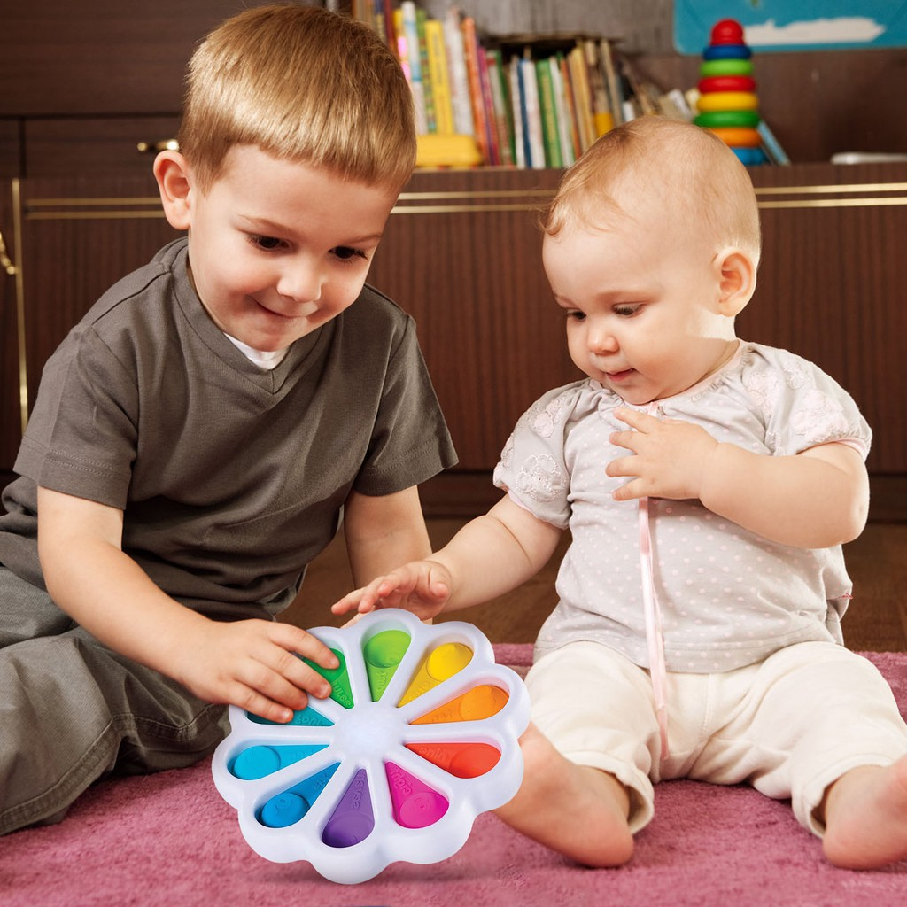 Cute Beetle Baby Fat Barin Exercise Hands-On Ability Toy Finger Pop It Game Comfortable Feel Puzzles Simple Dimple Toys