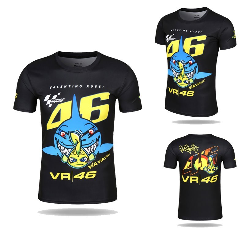 511c4c99 2017 VR46 Valentino Rossi T-Shirt Moto GP 46 The Doctor Signature Motor T  shirt | Shopee Singapore