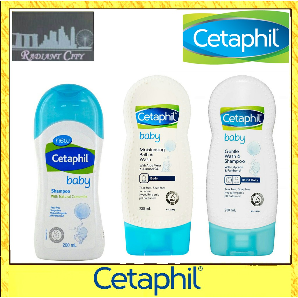 Cetaphil Baby Ultra Moisturising Bath And Wash Gentle Special Package Mom Shampoo 230ml Shopee Singapore