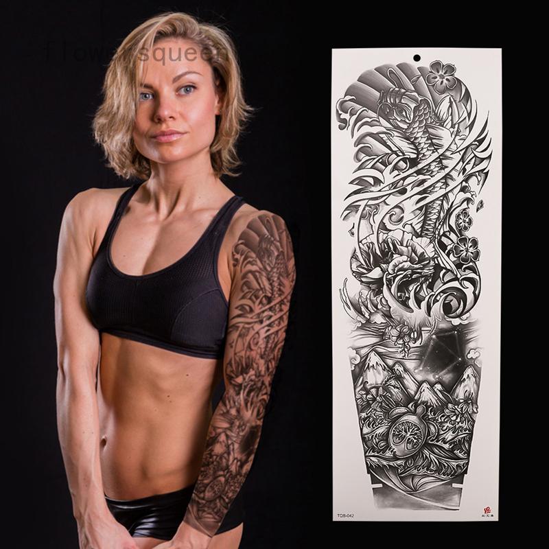 Men Women Arm Tattoo Temporary Tattoos Sticker Diy Body Art Waterproof 3d Tattoo Sticker Shopee Singapore