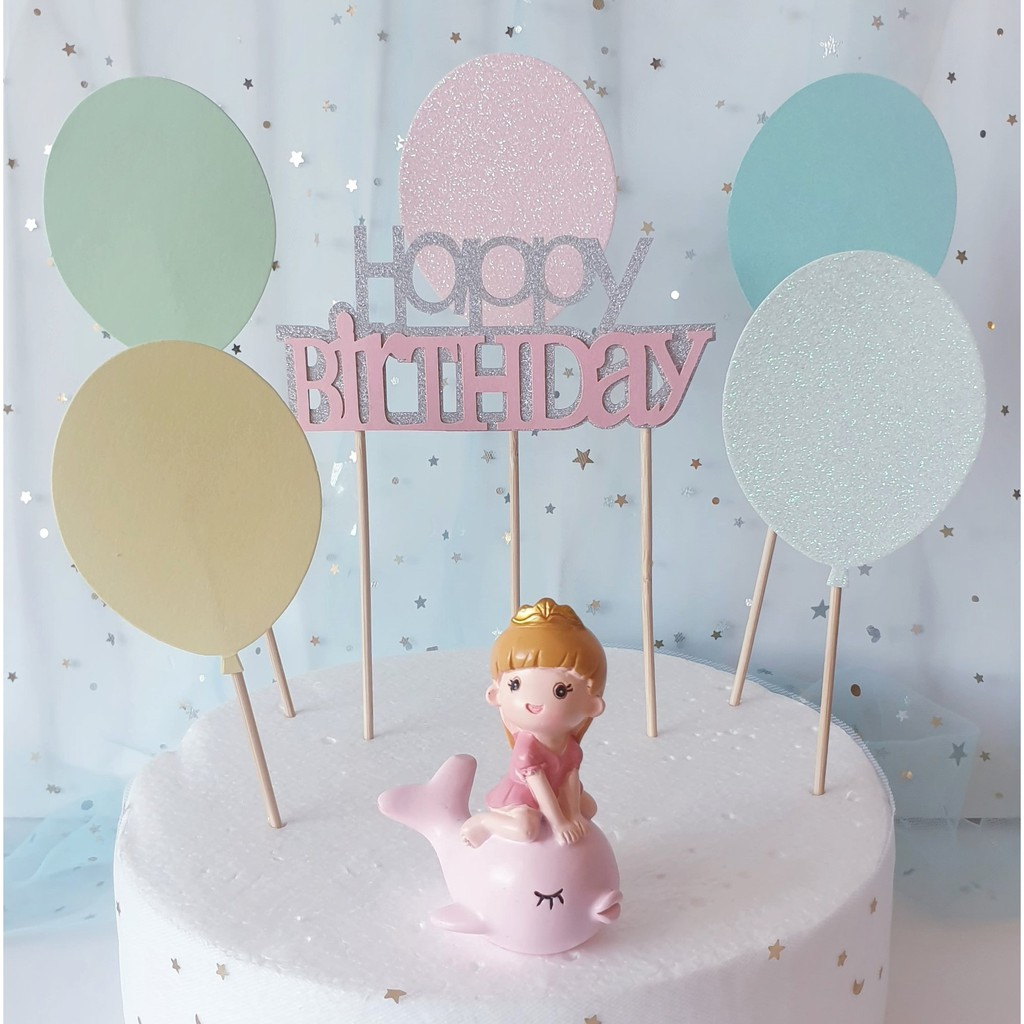 """9/"""" Pink Self-Inflating Balloon Cake Topper Number 0 Birthday Party Decoration"""