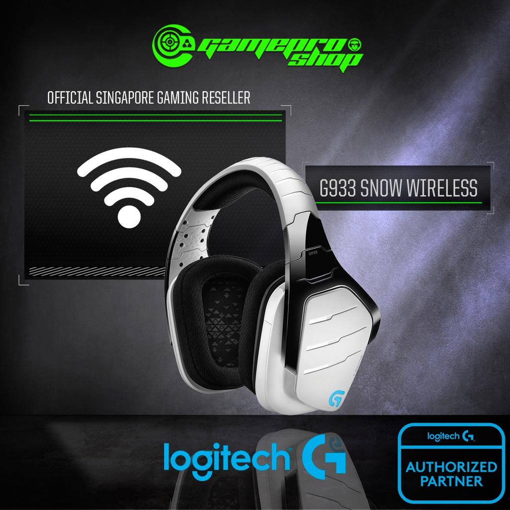 Logitech G933 Artemis Spectrum Snow Wireless 7 1 Surround Sound Gaming  Headset