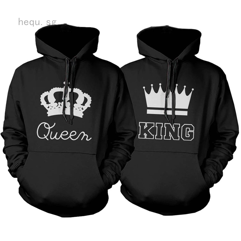 KING Queen Couple Hooded sweater