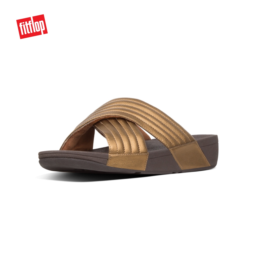 0bae10f1d Fitflop Gogh Moc Slide Leather Camou Green