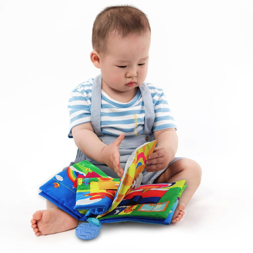 Pack of 6 teytoy My First Baby Bath Books Infants and Kids Perfect for Baby Shower Nontoxic Fabric Soft Baby Bath Toys Early Education Toys Activity Waterproof Baby Books for Toddler