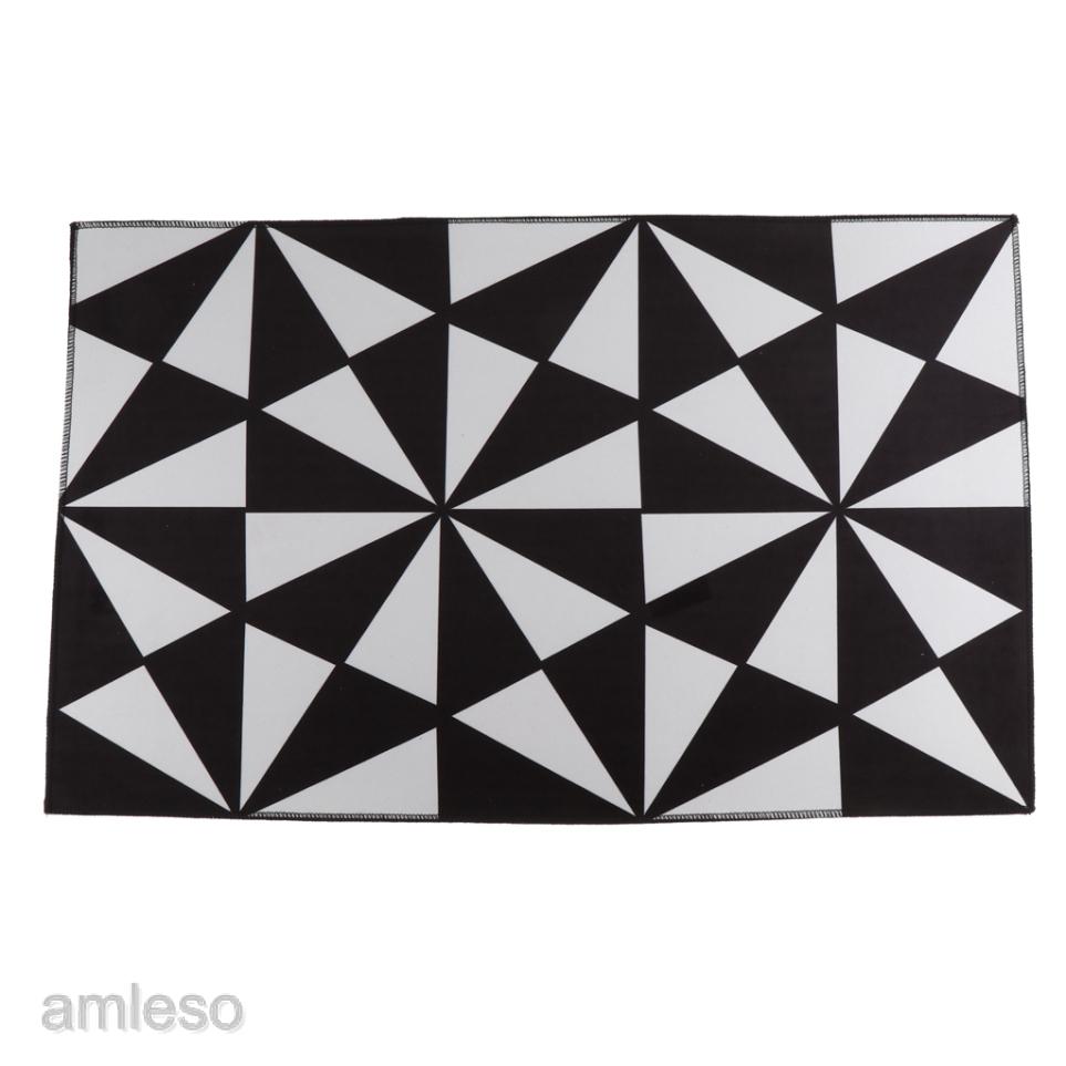 Door Mat Black White Carpet Anti Slip