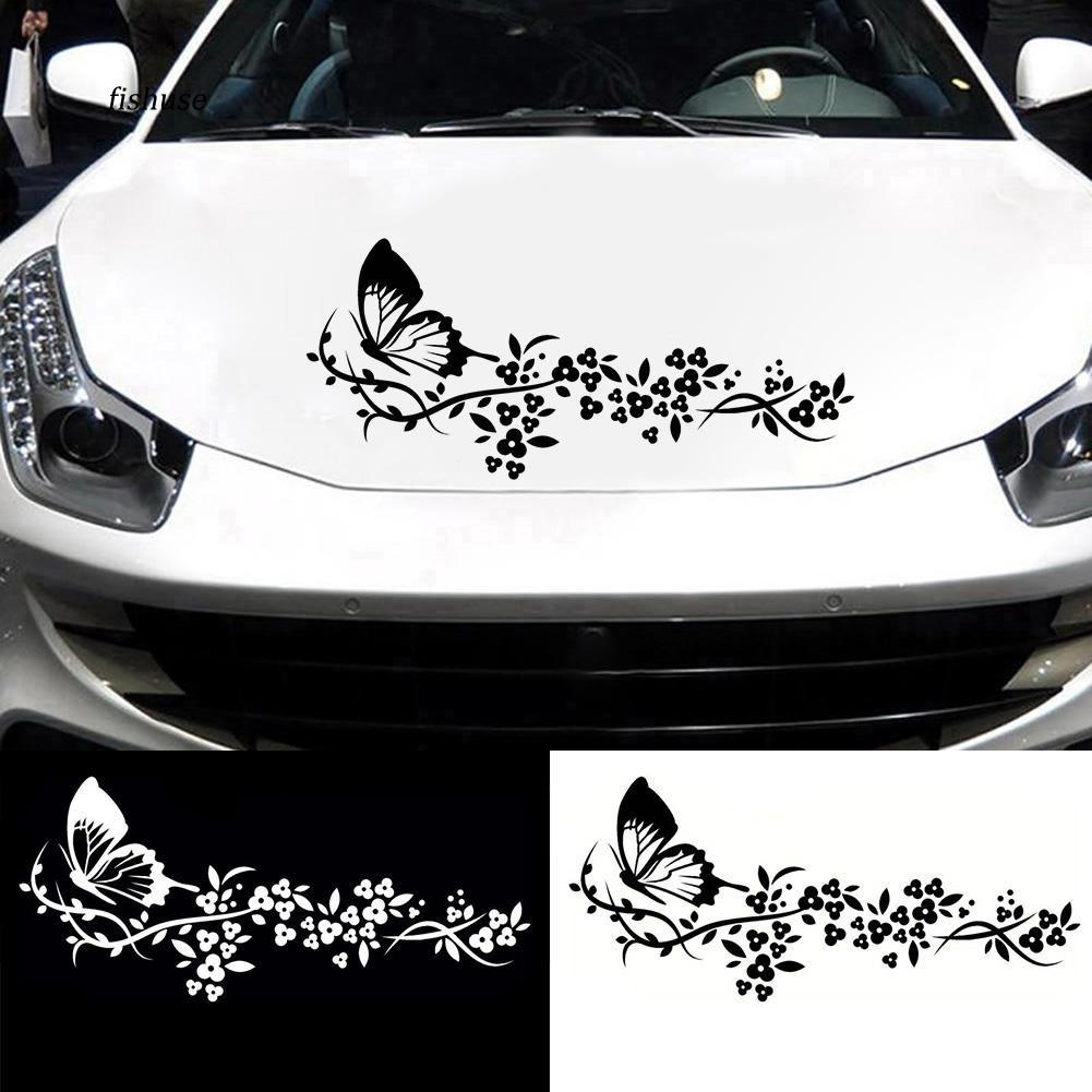 1x Flying Butterfly Flower Car Sticker Elegant DIY Truck Door Window Decal Decor