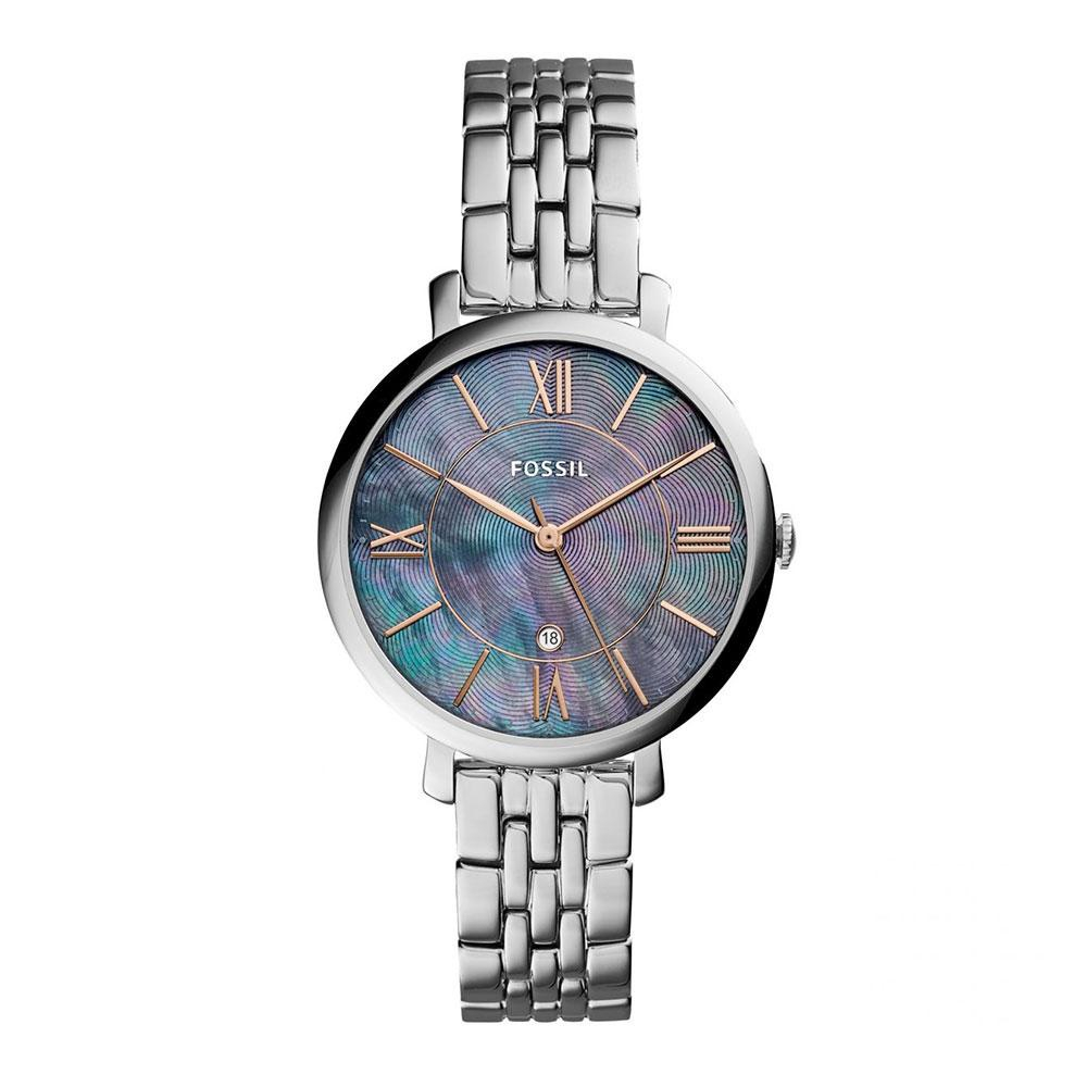 52c9767b1 Fossil ES3707 Jacqueline Rose Dial Grey Leather Strap Ladies Watch | Shopee  Singapore