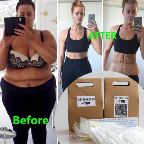 7008d441ba3672 60pcs Chinese Medicine Slimming Waist Belly Fat Burning Navel Paste  Stickers