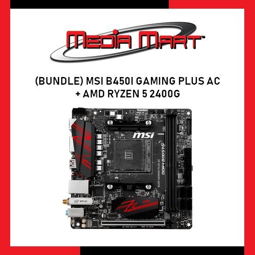 MSI B450I Gaming Plus AC + AMD Ryzen 5 2400G | Shopee Singapore