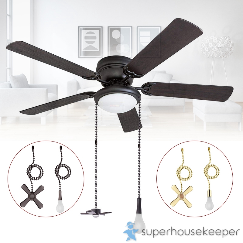 1 Set Ceiling Fan Pull Chain Beaded Ball Fan Pull Chain Pulls Set With Connector Shopee Singapore