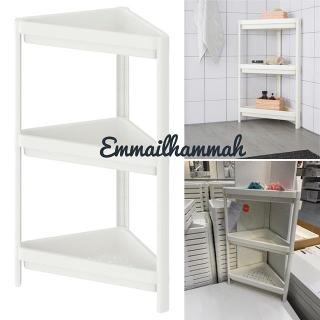 Ikea Vesken Corner Shelf 33x33x71cm Shopee Singapore