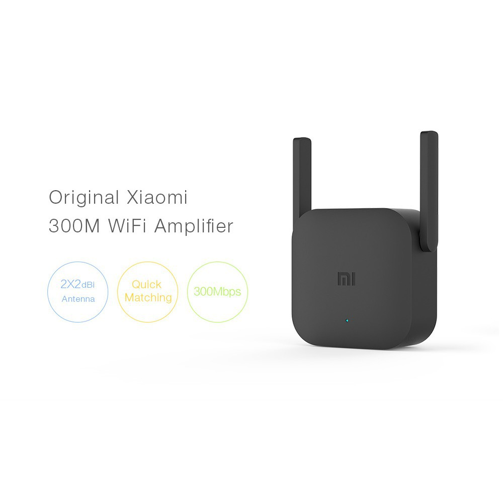 Original Xiaomi Pro 300m Wifi Amplifier For Mi Router Shopee Singapore Mini Usb Wireless Emitter Adapter 150mbps Black