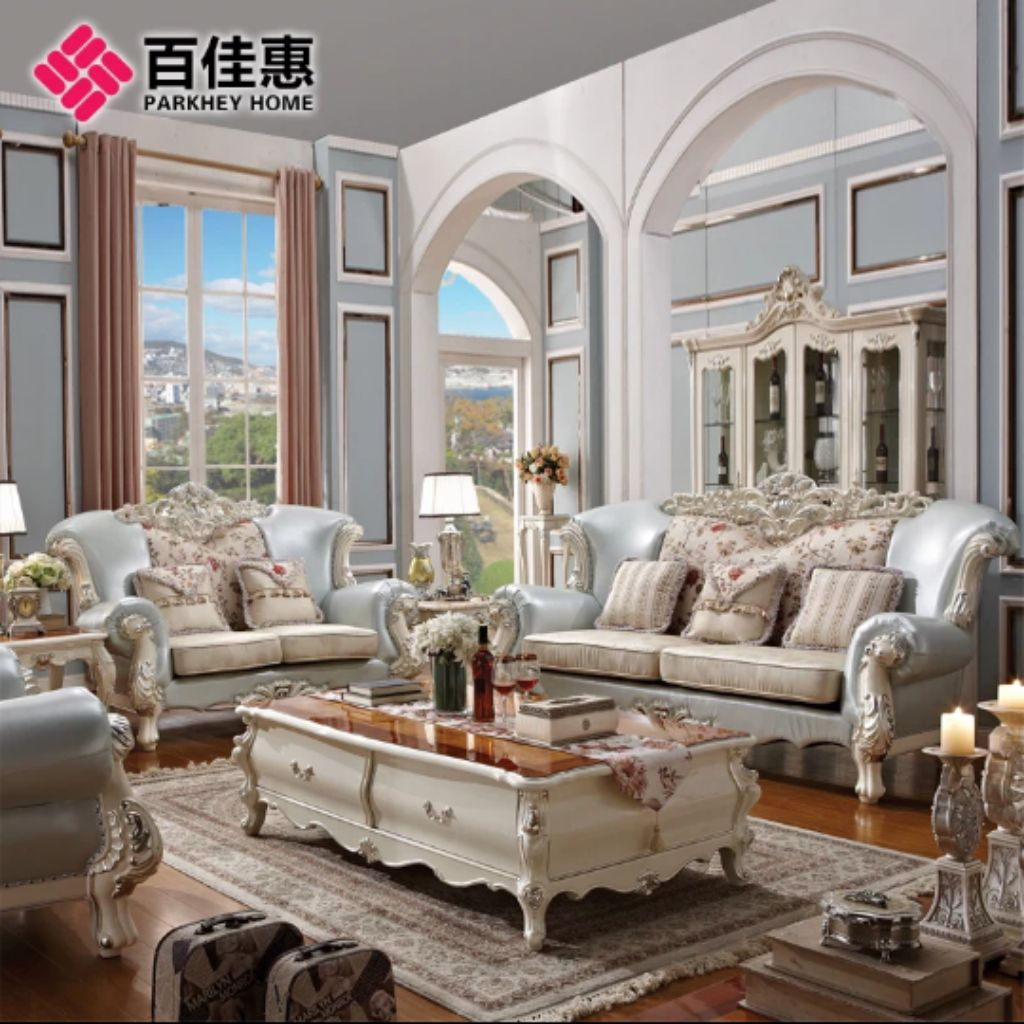 Chesterfield Full Leather Sofa Set