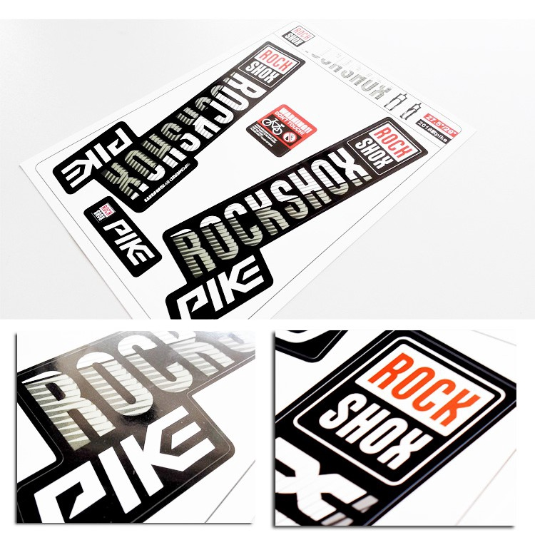 Rock Shox PIKE 2014 Mountain Bike Cycling Decal Kit Sticker Adhesive Lime Green