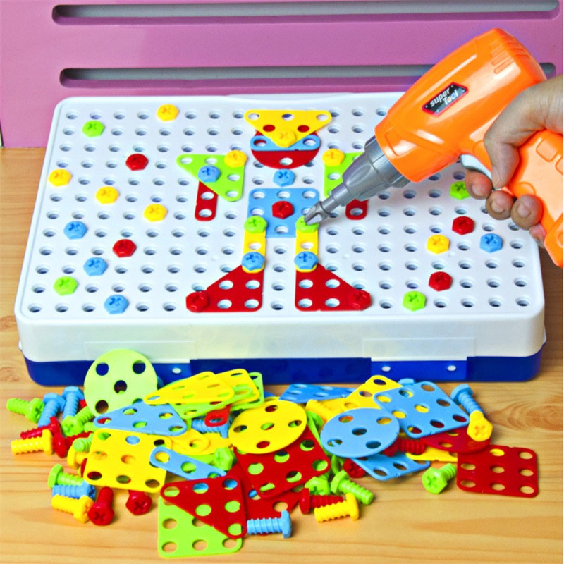 New Style Montessori Wooden Cartoon Panda Removable Toy Nut Assembly Tool Bar Toys For Children Learning Education Puzzle Toy Puzzles