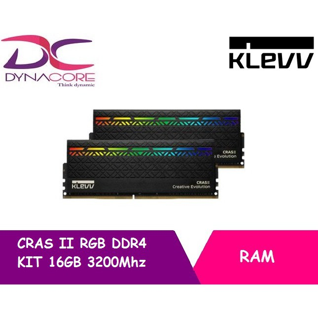 KLEVV CRAS II RGB DDR4 KIT 16GB(2x8GB) 3200Mhz RAM