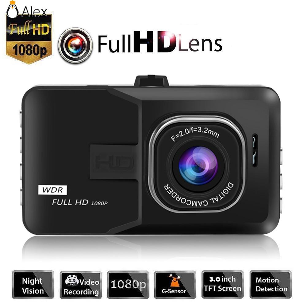 Black Dash Cam Dual Camera Reversing Recorder Car DVR 170° 1080P 3 0 ALSG