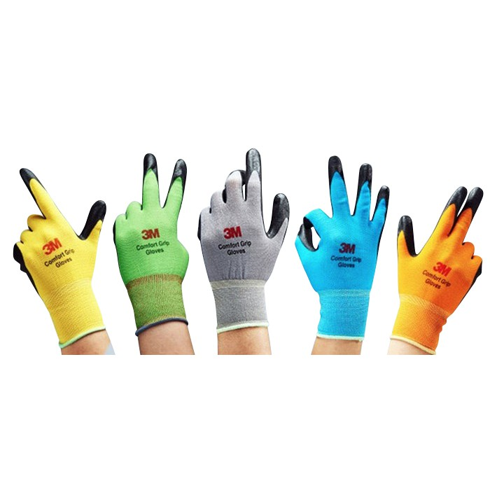 3M Lightweight Nitrile Foam Coated Best Comfort Gloves 10 Pairs Pack