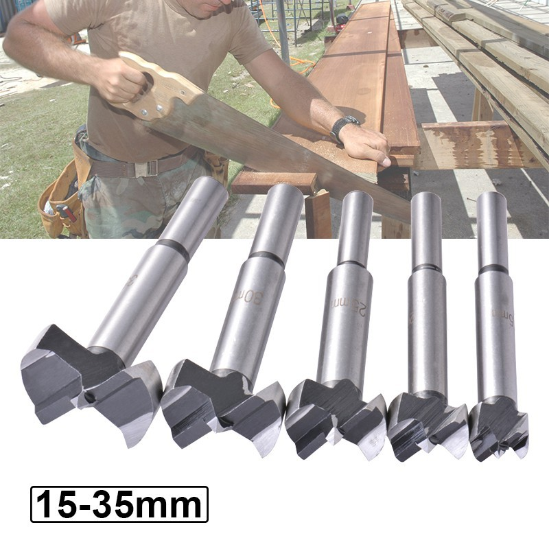Forstner Woodworking Boring Wood Hole Saw Cutter Drill Bit Tool 5-Size BI484 | Shopee Singapore
