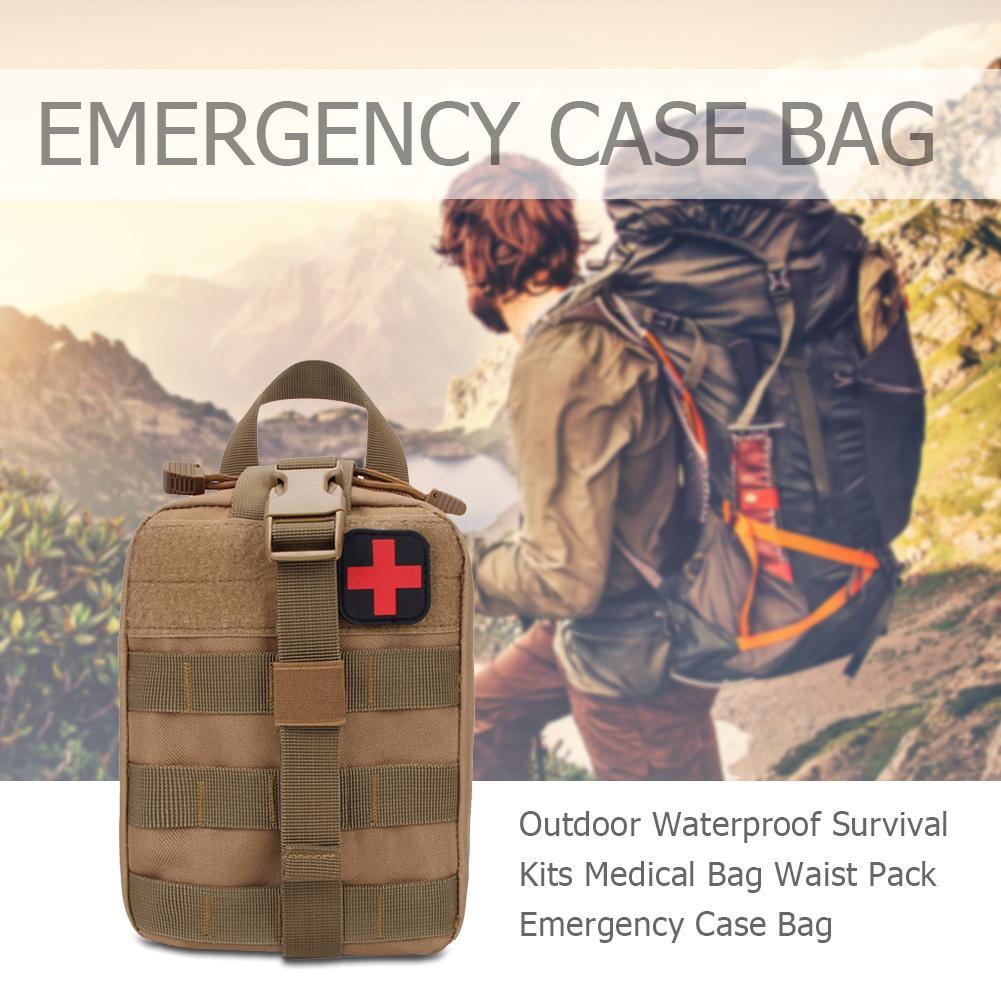 Outdoor Waterproof Survival Kits Medical Bag Waist Pack Emergency Case Bag