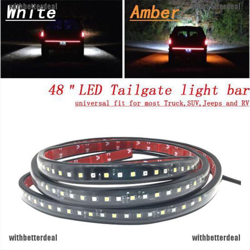 "Flexible 60/"" LED Car Truck RV Tailgate Strip Bar Brake Reverse Turn Signal Light"