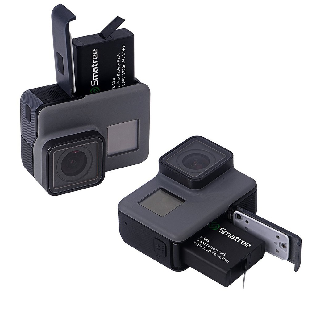 2-Pack with 3-Channel Charger for GoPro Hero 7//6//5//2018 Black Smatree Battery