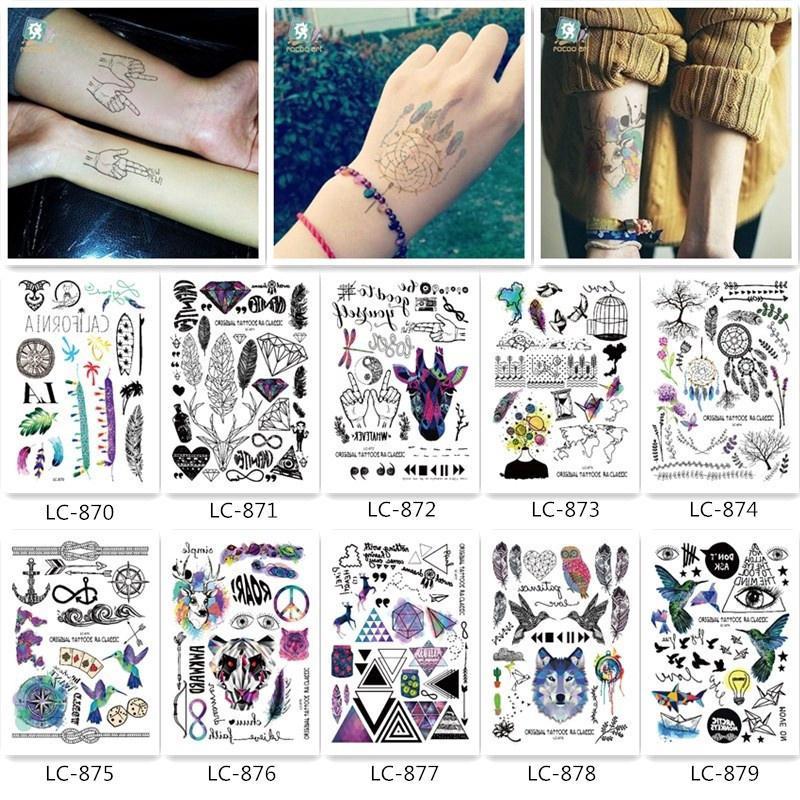 10 Sheets Glitter Tattoo Sticker Black Cool Temporary Tattoo Body Art Stickers Shopee Singapore