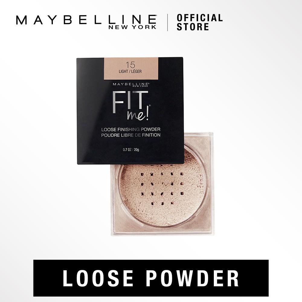 Finale Sales Maybelline Fit Me Loose Powder 4 Shades Shopee Singapore Face Studio V Shape 01 Light Med