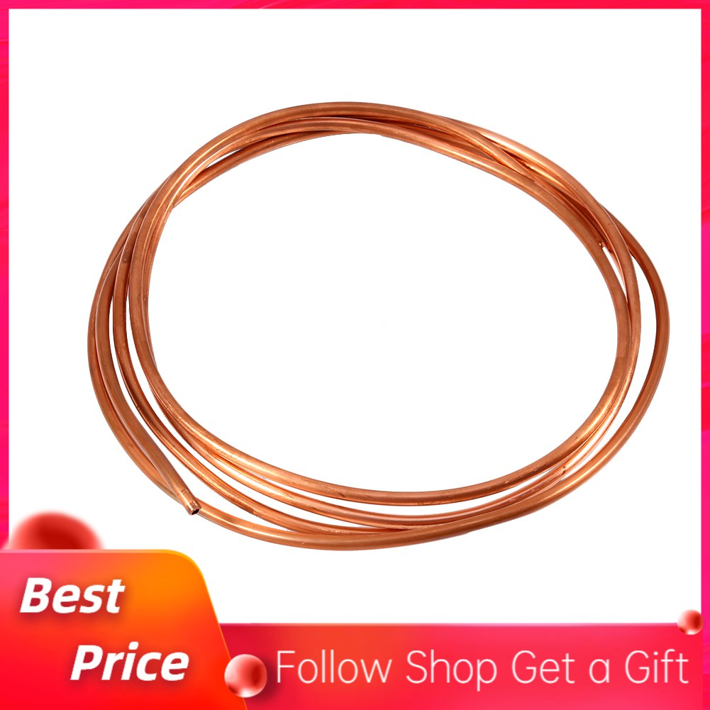 2M Soft Microbore Copper Tube Pipe OD 4mm x ID 3mm For Refrigeration Plumbing