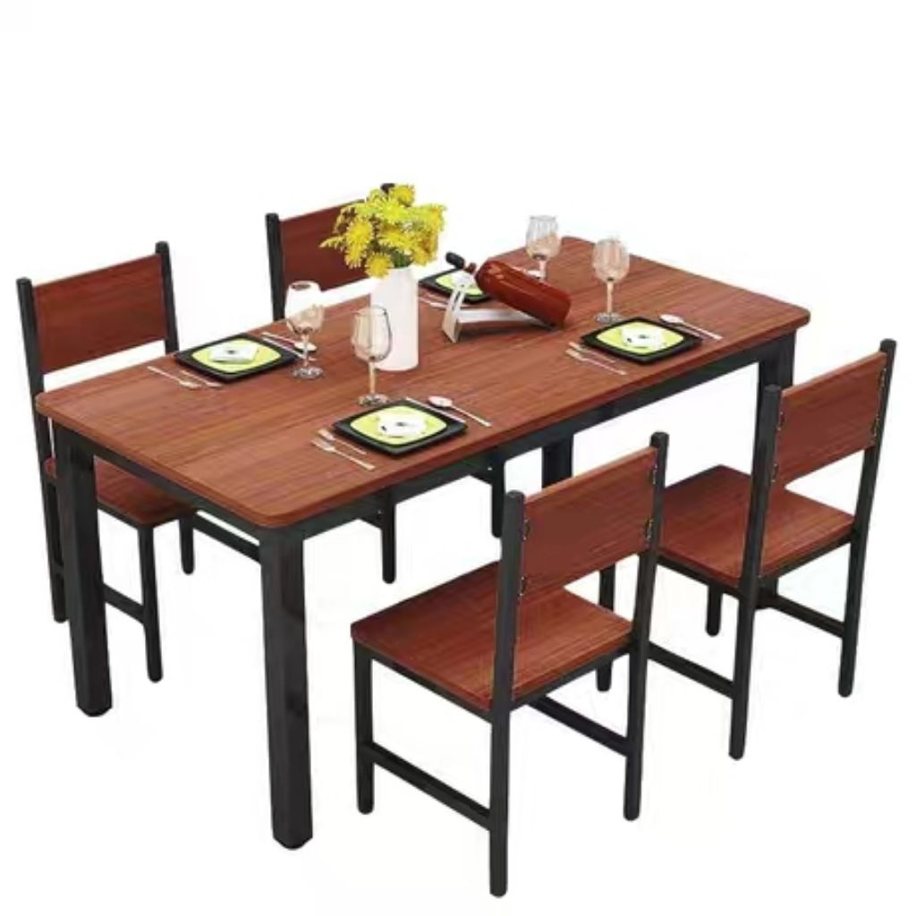 Dining Table Set L140xw80cm 1 4