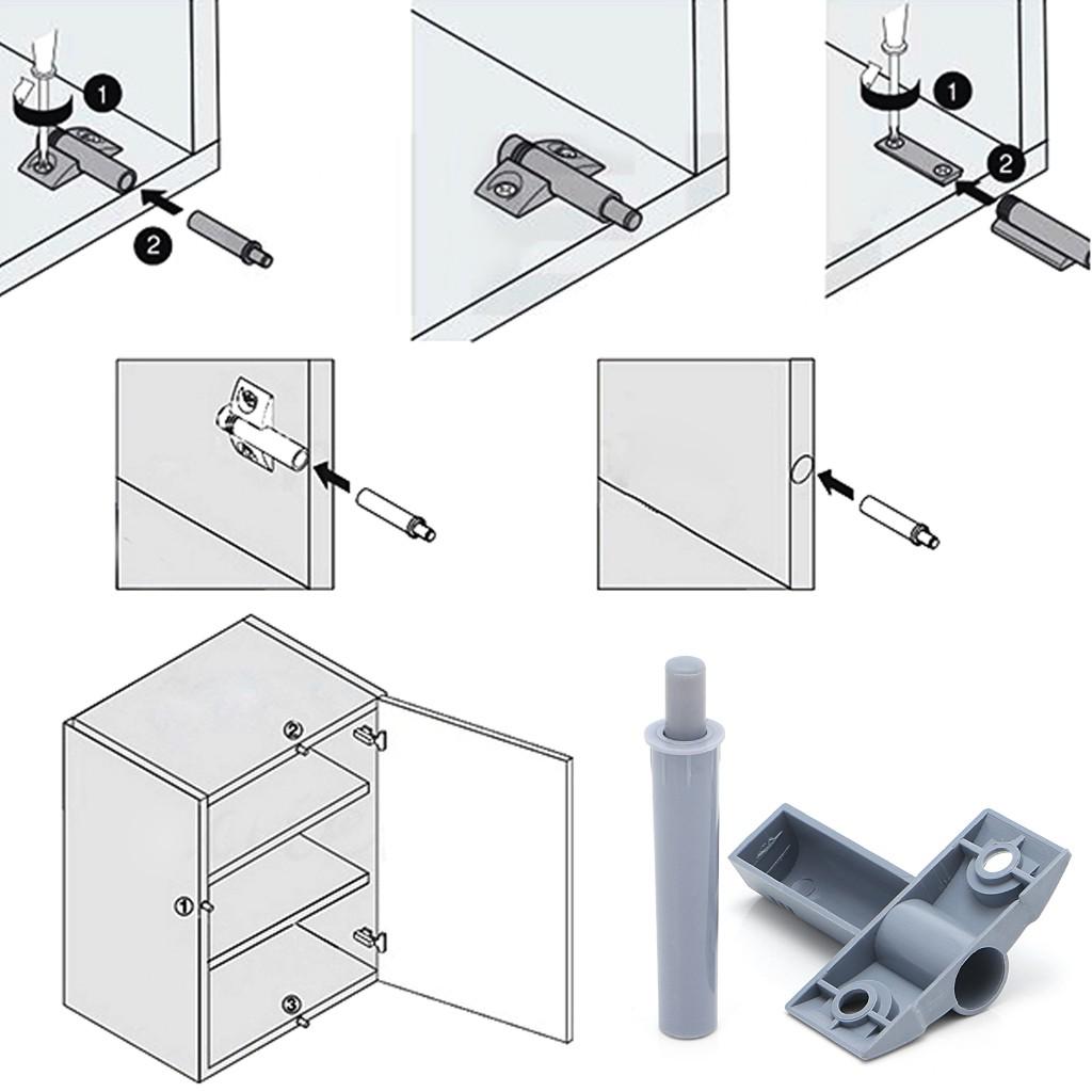 20 Kitchen Cabinet Door Drawer Soft Quiet Close Closer Damper Buffers+Screws C