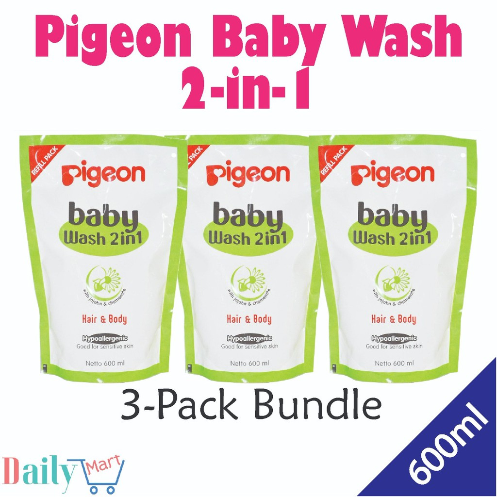 Pigeon Baby Wash 2 In 1 New Packing Shopee Singapore Chamomile 200ml Paraben Free