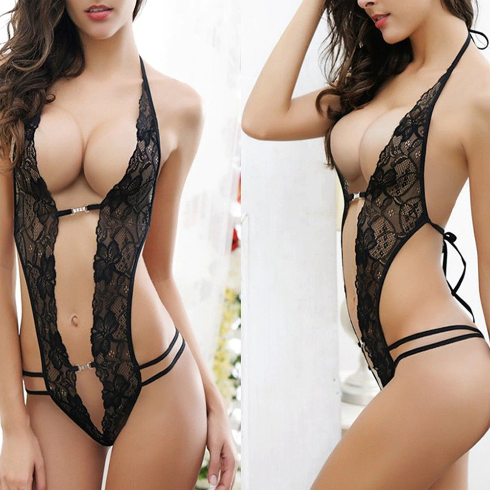 Women Sexy Lingerie Hot Erotic Sexy Porn Lace One-Piece Underwear ...