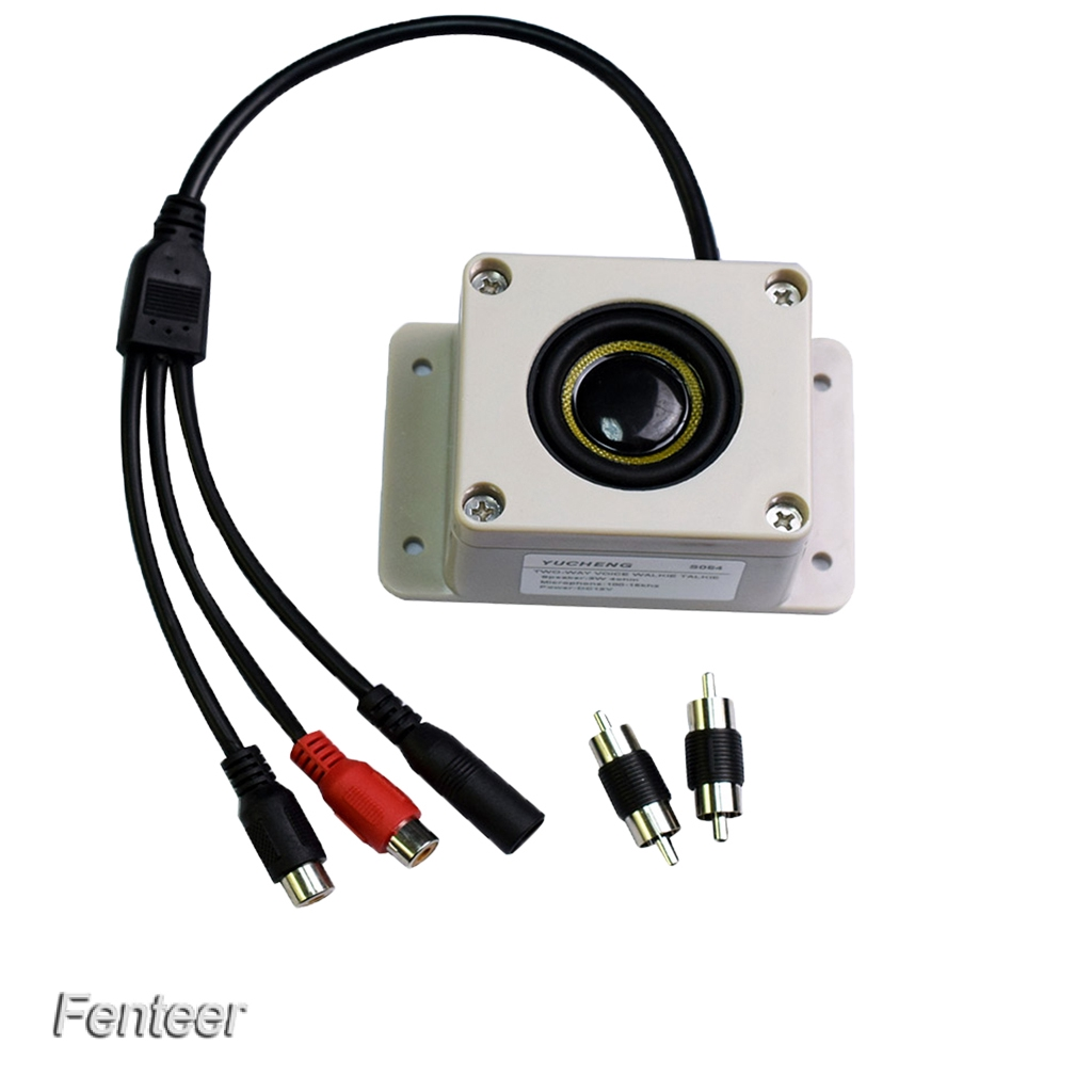 IP66 Waterproof Grade Built-in Volume Control Audio Speaker with Microphone for Surveillance Camera