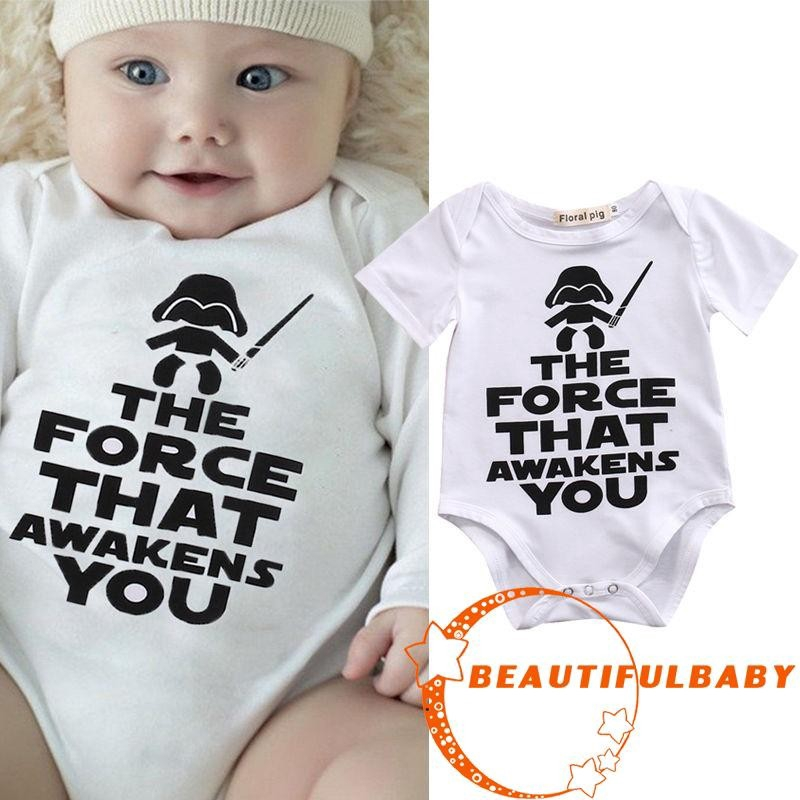 Star Wars Newborn Baby Girl Cotton Romper Bodysuit Sunsuit Casual Clothes Outfit