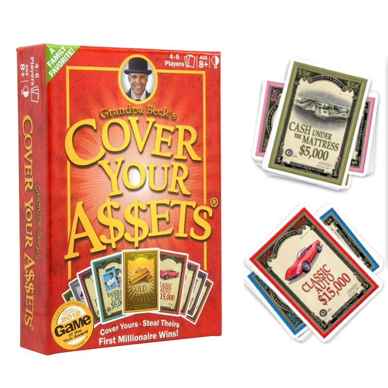 Ready Stock Card Game Grandpa Beck S Cover Your Assets Millionaire Card Game Family Friend Weekend Set Board Game Shopee Singapore