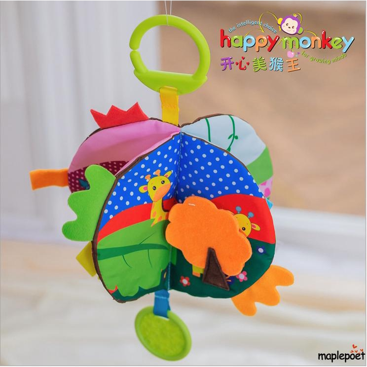 Baby Kids Intelligence Development Toys Cloth Bed Cognize Book Educational Toy